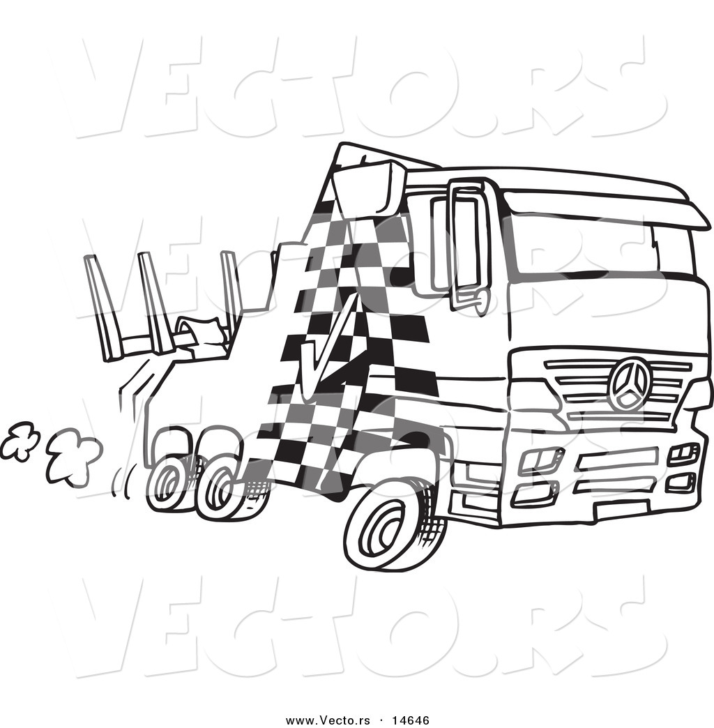 Vector Of A Cartoon Fast Tow Truck
