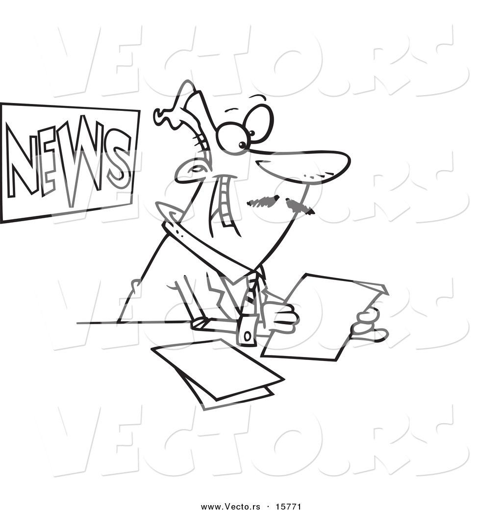 Cartoon News Anchors
