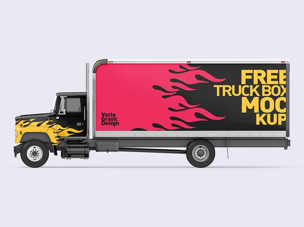 Download Free Download Ford Box Truck Free Mockups | Vectogravic Design