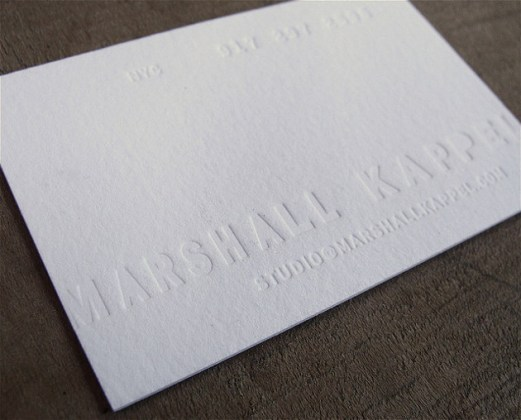 40  Letterpress Business Cards   Unique Business Cards White letterpress business card