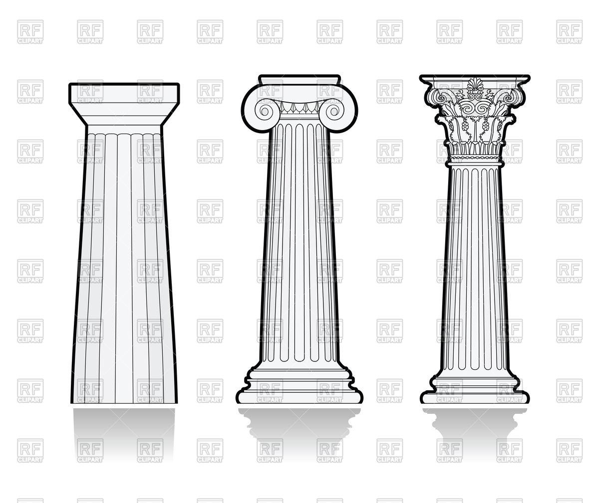 Greek Column Vector At Vectorified