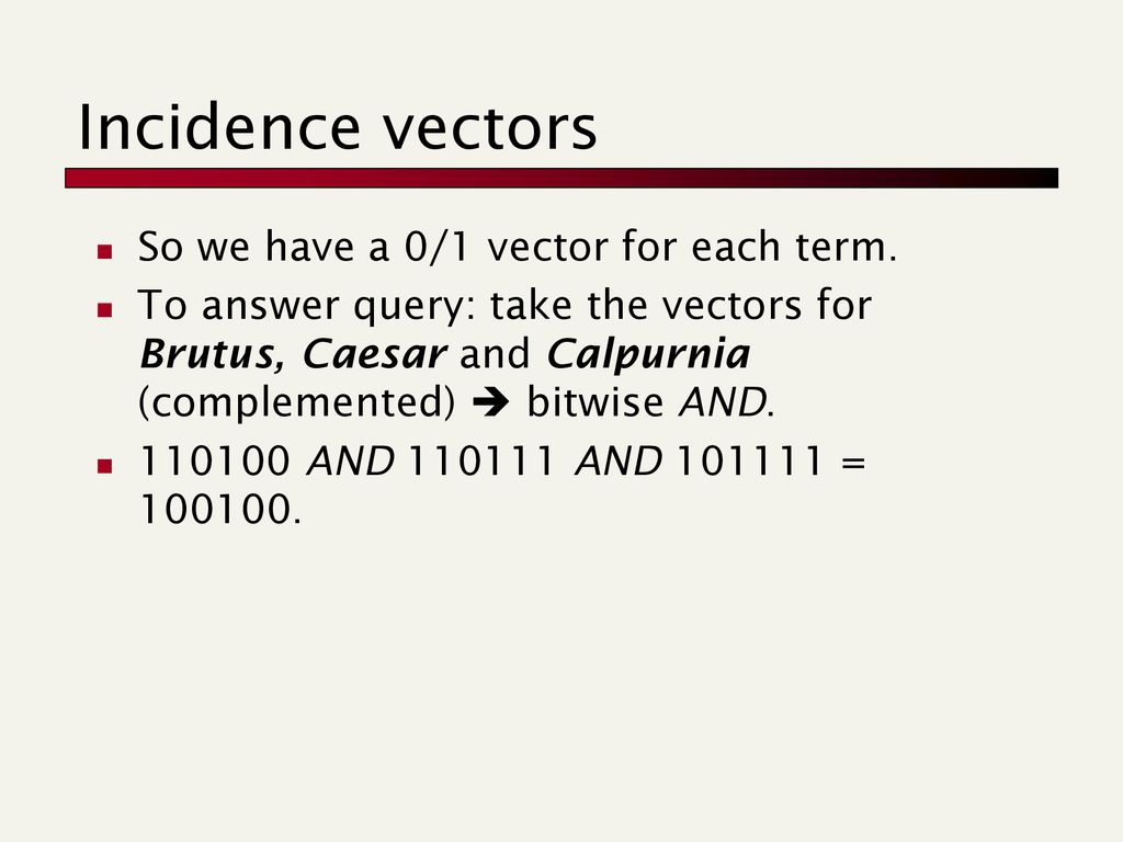 Incidence Vector At Vectorified