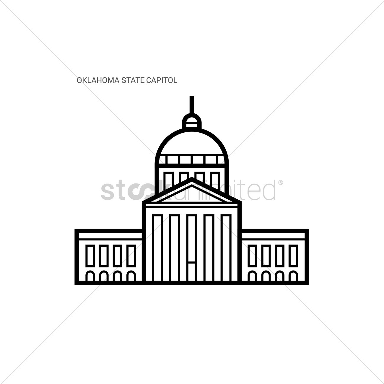 Oklahoma State Outline Vector At Vectorified