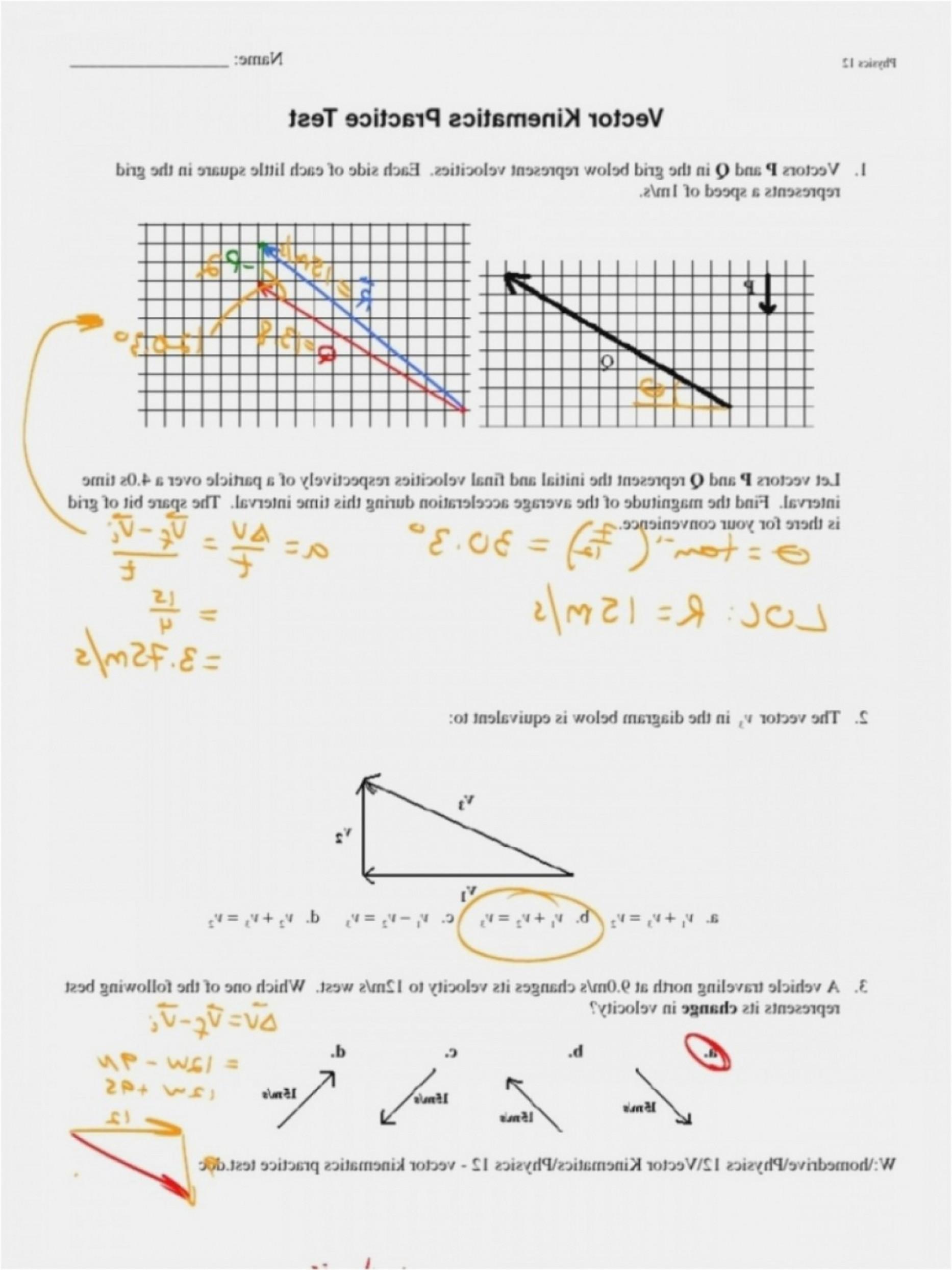 Vector Addition Worksheet At Vectorified