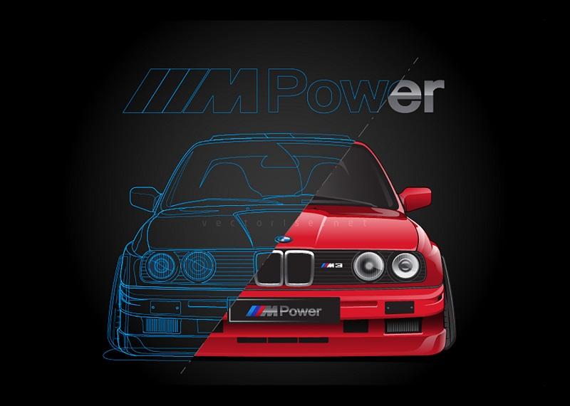 BMW E30 vectorise