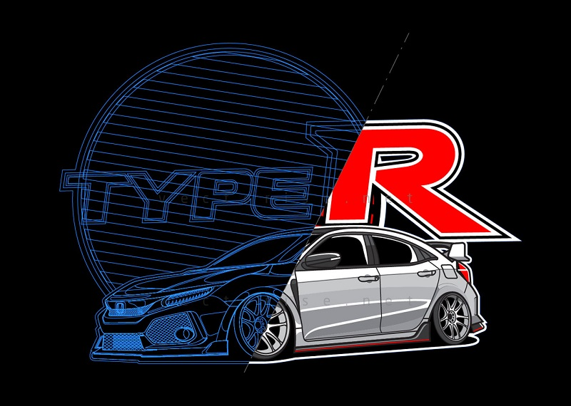 Honda Civic Type R - vectorise