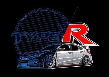 Honda Civic Type R - vectorise
