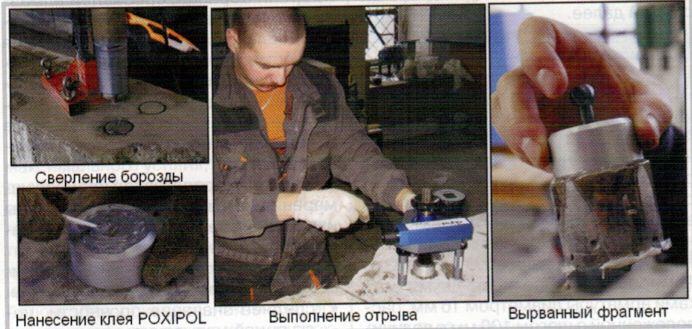 Измерение прочности методом отрыва