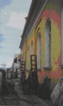 Работы по усилению старого фундамента наклонными буроинъекционными сваяими (Таврический дворец, СПб)