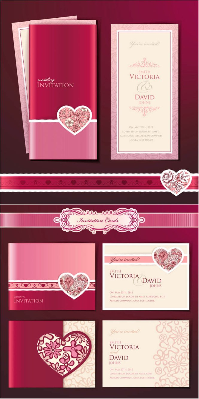 Wedding Invitation With Dvd Kit Design Vector 03