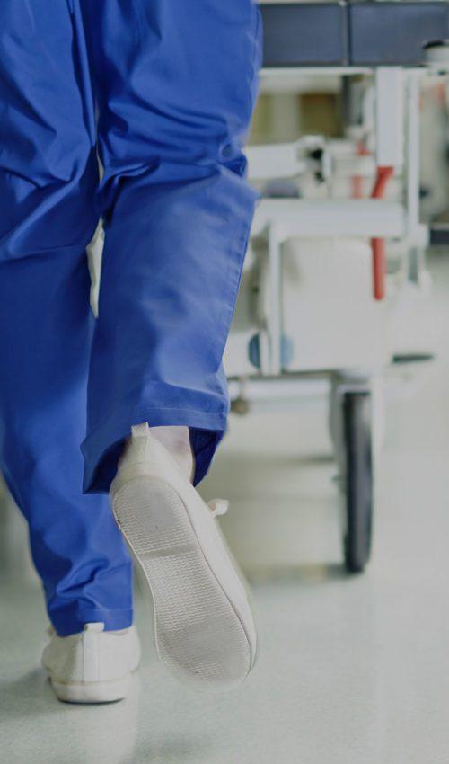 Hospital Nurse Walking