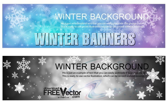 Winter Banners Templates Free Vector Art
