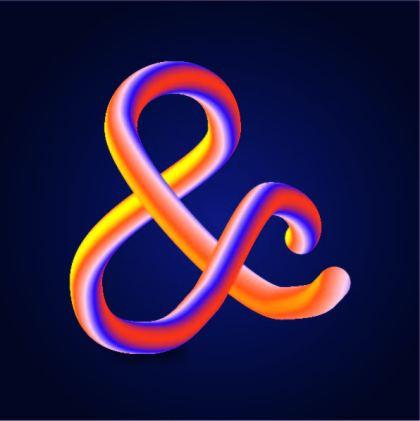 altered-colourful-tubular-ampersand