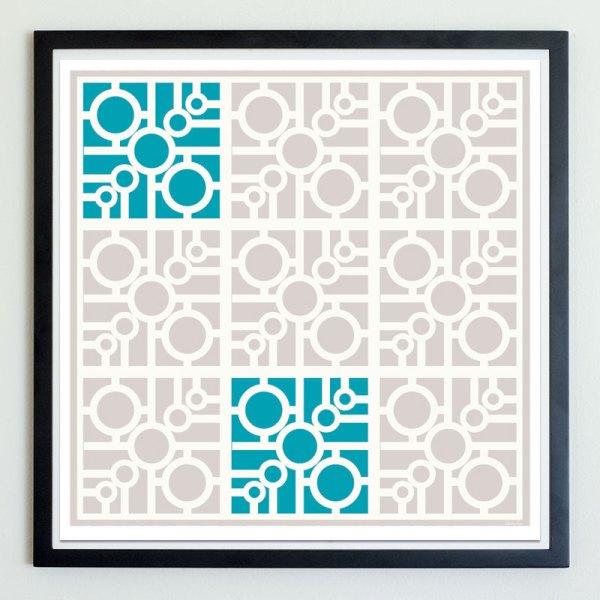 circle connect breeze block art print