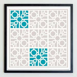 circle connect breeze block art print