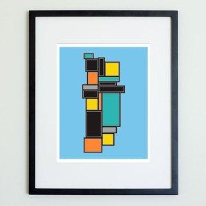 Colorblock Structure Print No 3