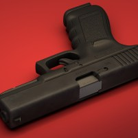 3d model of Glock 17 pistol 03