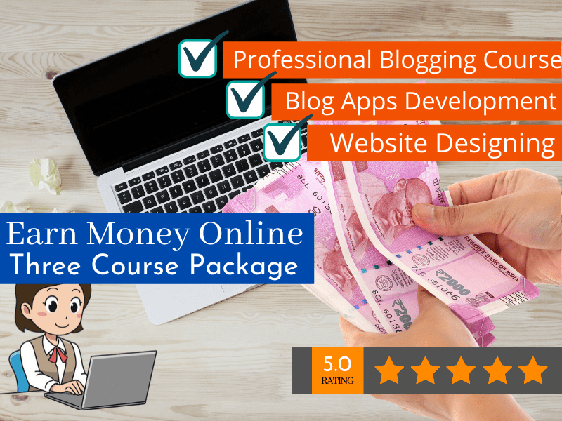 Earn Online Money With Three Professional Course Package By VedantSri