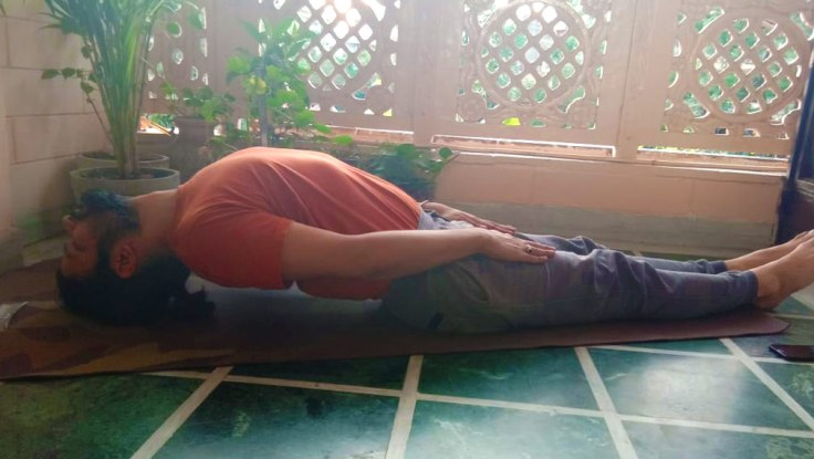 Matsyasana Variation (Variation of Fish Pose)