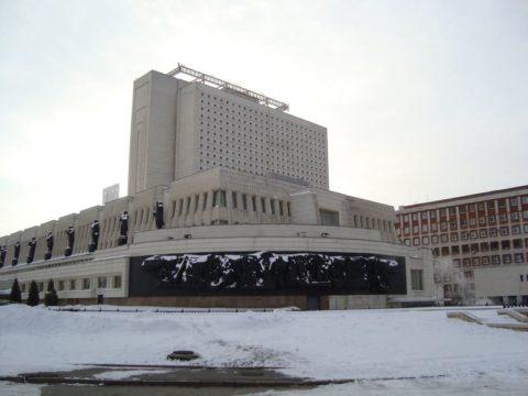 Метромост и библиотека имени Пушкина – фото, описание