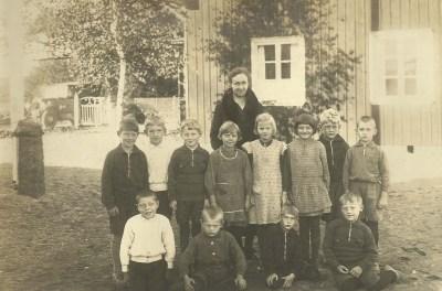 Småskolan i Östra Derome, klassfoto