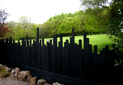 Fence at Veddw copyright Anne Wareham s