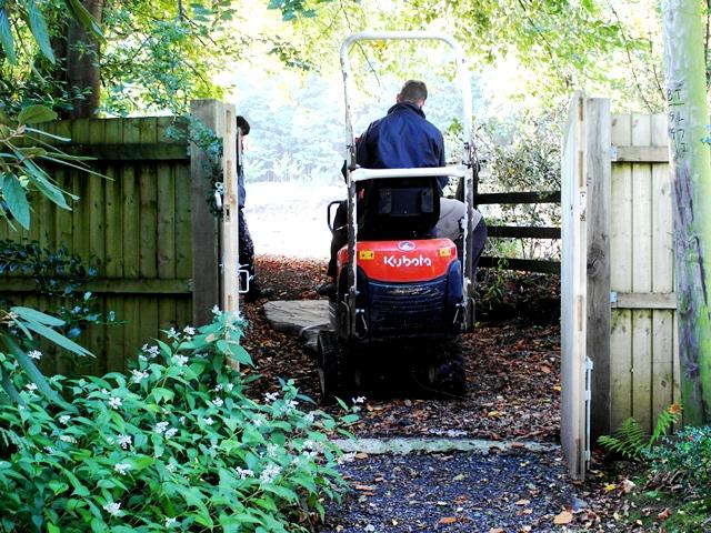 Dragged through gate . Veddw copyright Anne Wareham SAM_4129 s