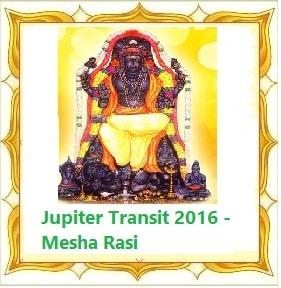 Jupiter Transit (Guru Peyarchi) 2016 - 2017 - Aries Sign (Mesha Rasi)