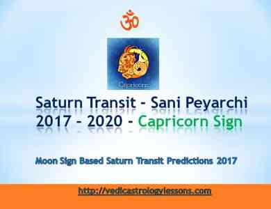 Satunr Transit 2017 - 2020 for Capricorn Sign - Sani Peyarchi Plalangal 2017 for Makara Rasi