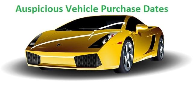Subha Muhurat Vehicle Purchase Dates 2019 - Vedic Astro Zone