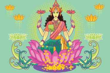 Goddess Lakshmi Vector Art