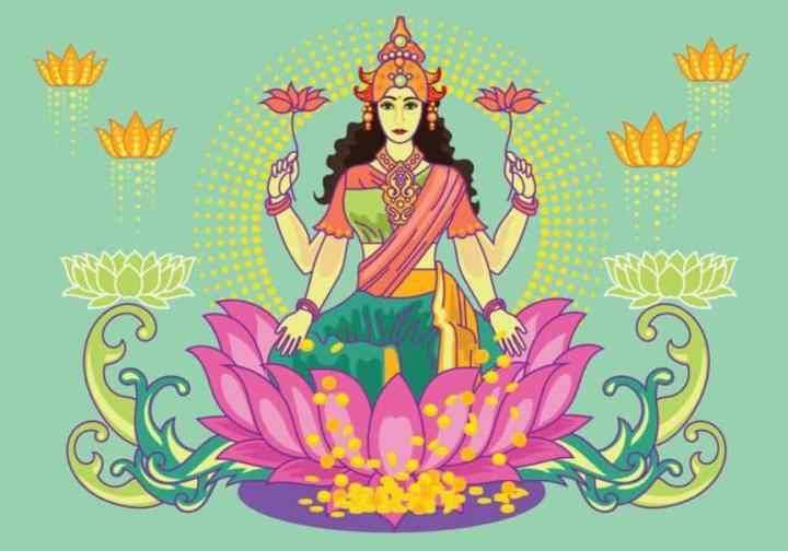 Goddess Lakshmi Vector Art