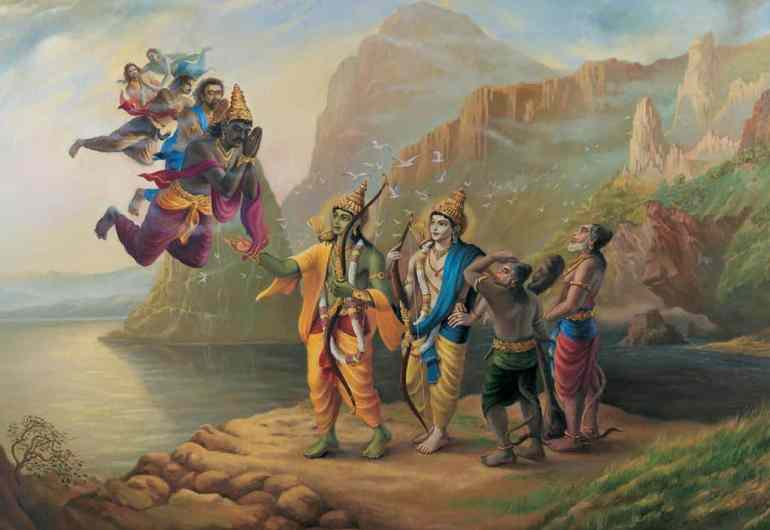 Vibhishan Meeting Rama And Lakshman