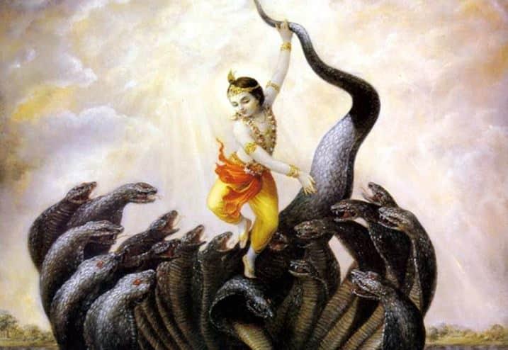 Shri Krishna and Shesha