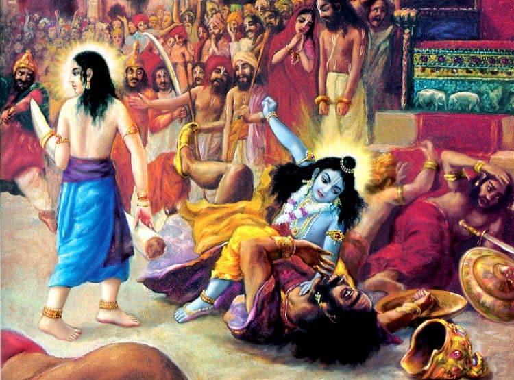 Lord Krishna Killing Kansa