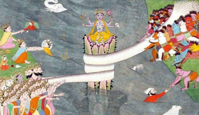 Goddess Lakshmi Appeared in Samudra Manthan