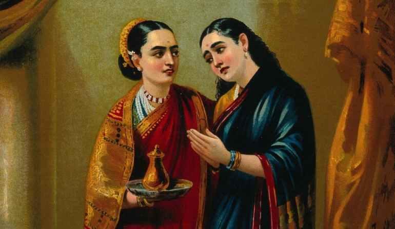 Draupadi and Sudeshna