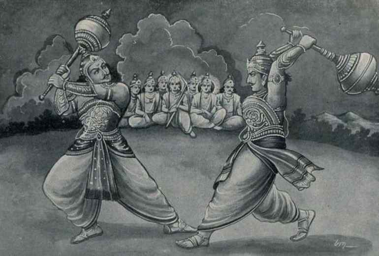 Bhima and Duryodhana