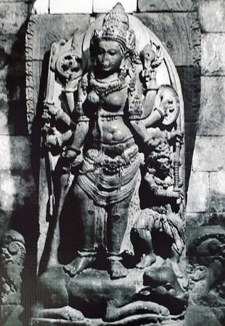 Statue of Durga at Prambanan Temple