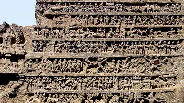 Kailasa Temple - Mahabharata