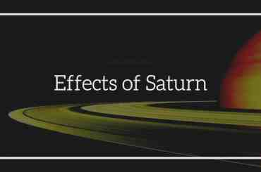 Effects of Saturn in Different House