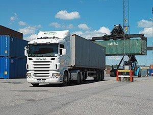 Перевозка контейнеров автотранспортом
