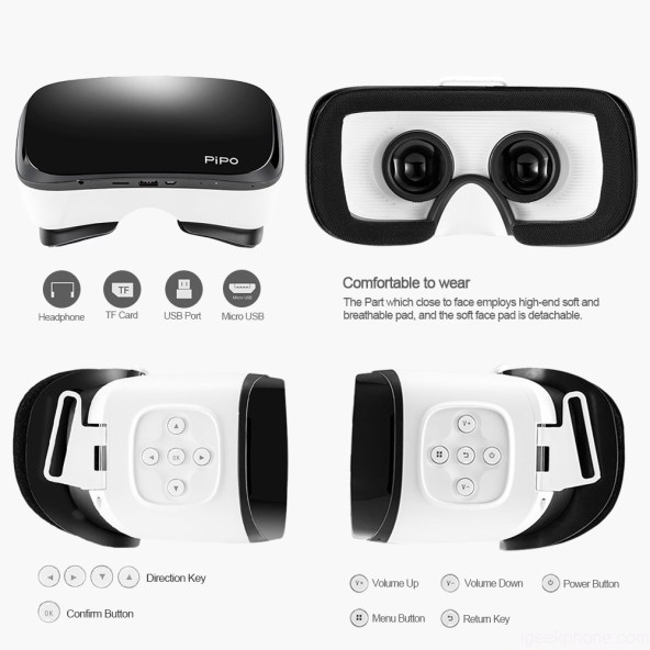 Design and Dimensions of PIPO VR 2