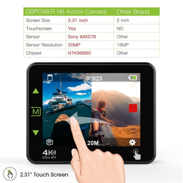 DBPOWER N6 Touch Screen