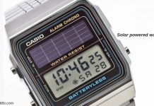 Solar powered watches