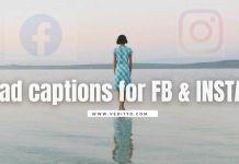 Sad Captions for Instagram & Facebook
