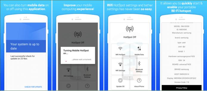 Wi-Fi Tethering/ Wi-Fi Hotspot