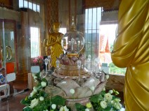 The relics at Wat Chalong