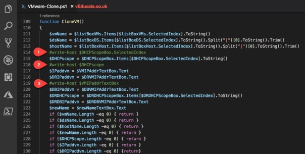 clone script write host