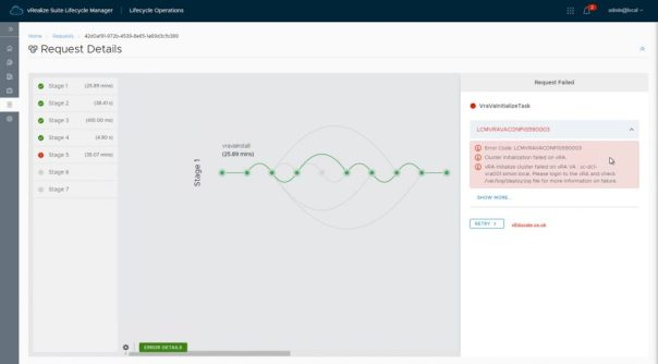 vRA deployment SSL issue LCMVRAVACONFIG590003